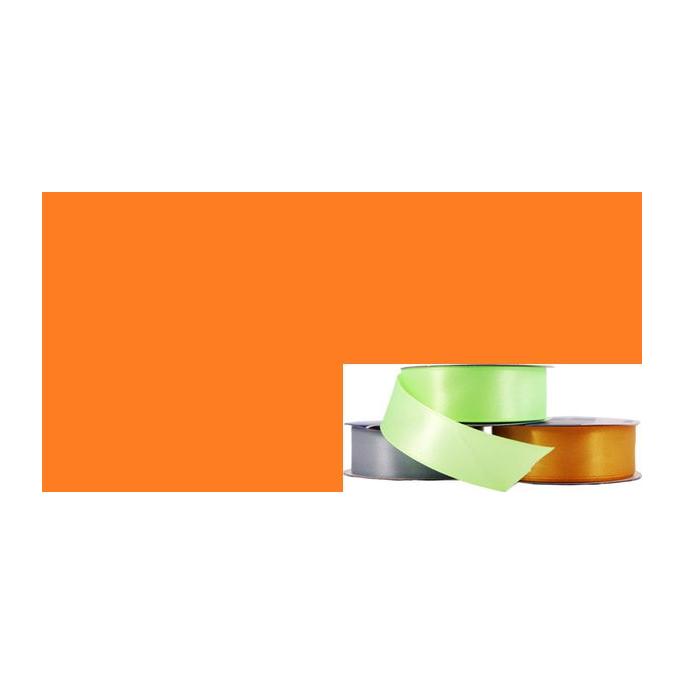 Satin Ribbon 25mm Orange (20m roll)