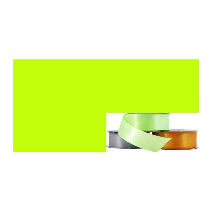 Satin Ribbon 25mm Lime Green (20m roll)