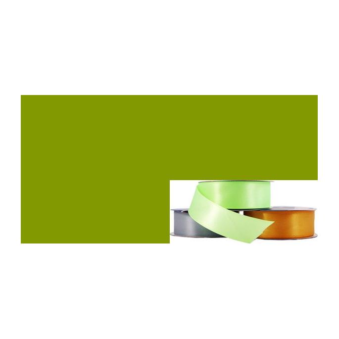 Satin Ribbon 25mm Olive (20m roll)