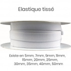 Woven Elastic White 9mm (by meter)