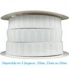Non-Roll Flat Elastic White 25mm (by meter)