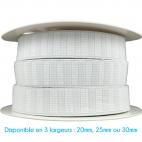 Elastique Gros Grain 30mm Blanc (au mètre)