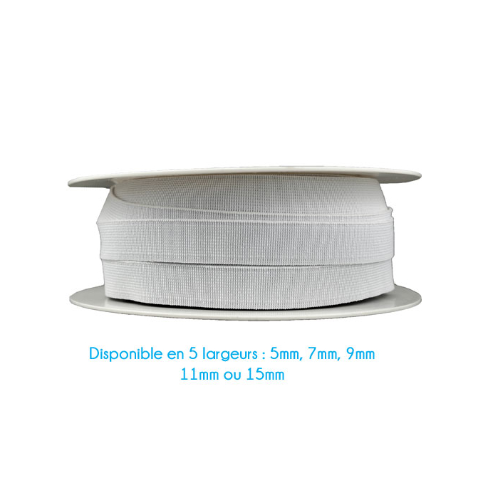 Elastique Bracelet 11mm Blanc (au mètre)
