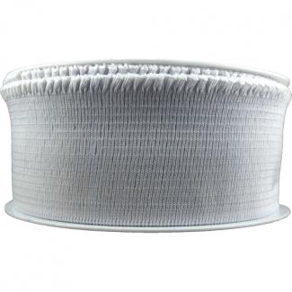 Elastique bord de côte pour jupe Blanc 60mm (au mètre)