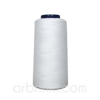 Cône fil polyester Blanc (2743m)