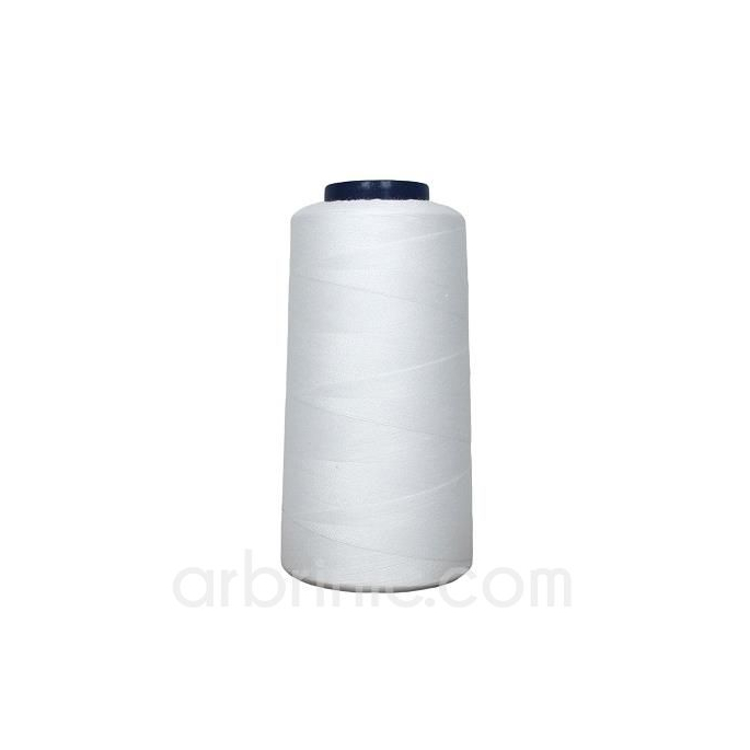 Polyester Serger and sewing Thread Cone (2743m) White