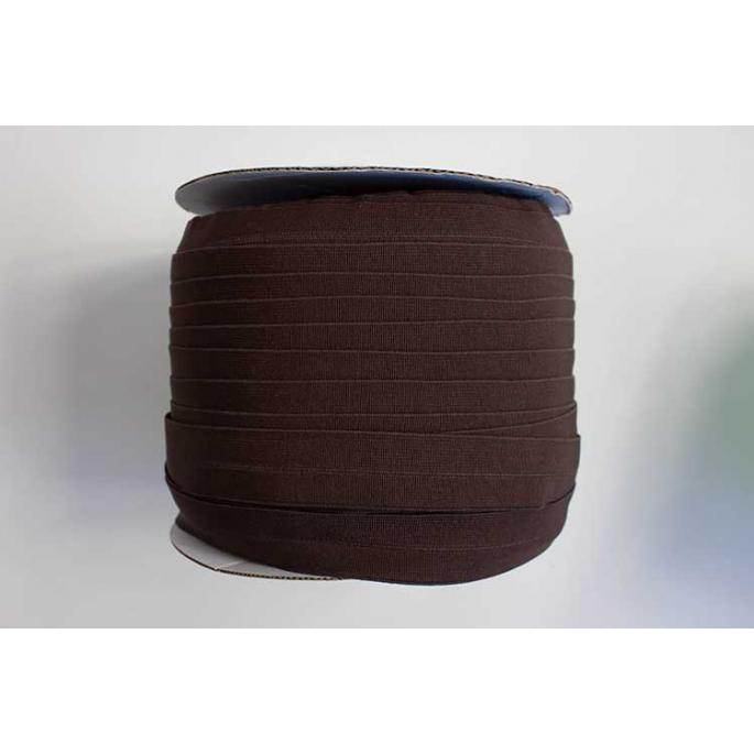 Biais élastique 2.5cm Chocolat foncé (1m)