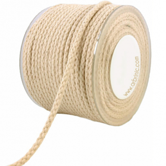 Braided Cotton Cord - 5mm (by meter)