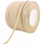 Braided Cotton Cord - 8mm (by meter)
