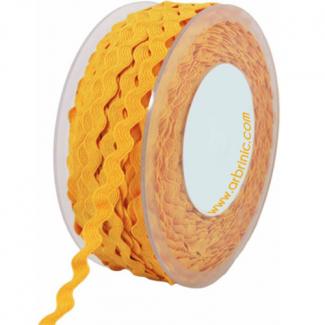 Croquet zigzag 6mm Jaune (au mètre)