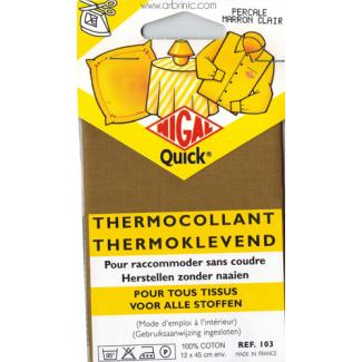Iron-on mender NIGAL Quick - lightweight cotton Light Brown