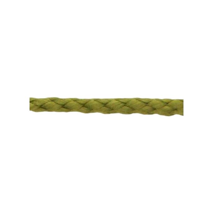 Cordon Anorak - tresse plate 5mm Kaki (au mètre)