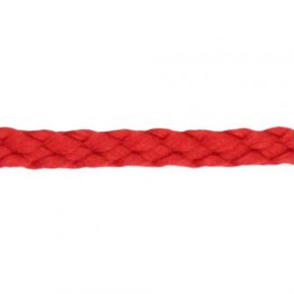 Cordon Anorak - tresse plate 5mm Rouge (au mètre)
