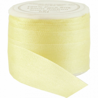 Silk Ribbon 13mm Yellow (5m spool)