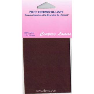 Iron-on mender - Lightweight cotton Brown