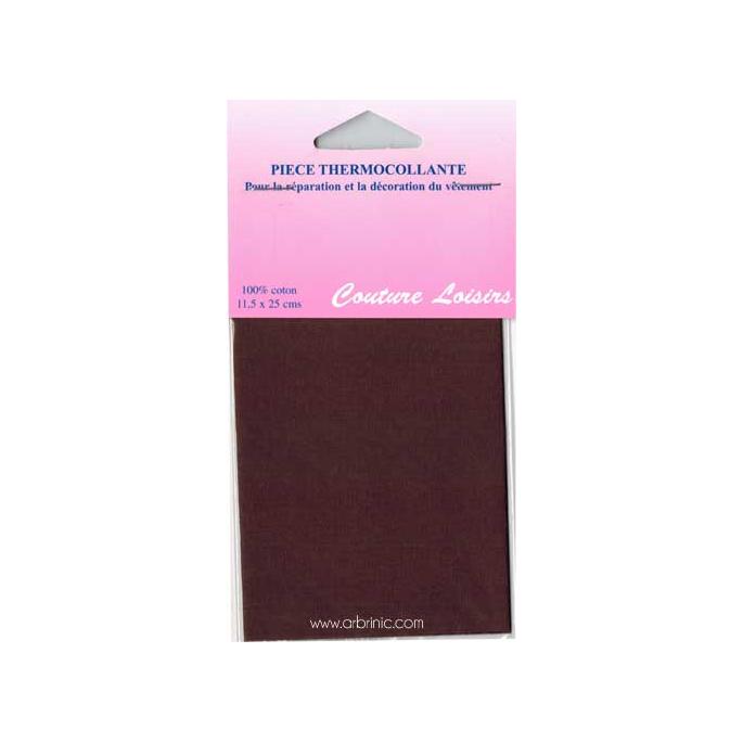 Pièce thermocollante - Percale coton Marron
