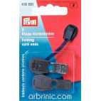 Cord stoppers PRYM plastic folding Black (x2)