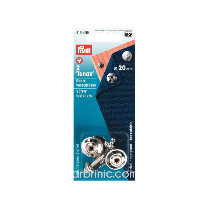 TENAX Fermetures d'arrêt pour Surfaces Dures 20mm (x2)