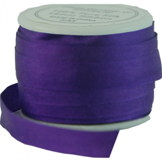 Silk Ribbon 7mm Purple (10m spool)