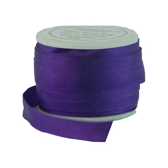 Silk Ribbon 7mm Purple (10m spool)