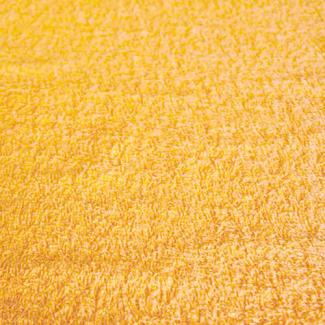 Eponge de coton Oekotex Laize 160cm Jaune Or (au mètre)