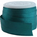 Ruban Soie 13mm Turquoise Foncé (bobine 5m)