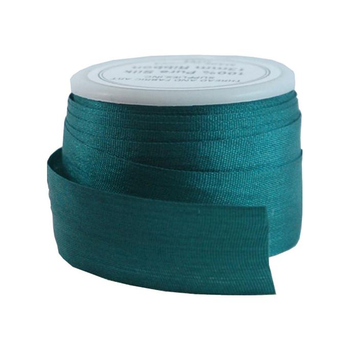 Silk Ribbon 13mm Dark Teal (5m spool)