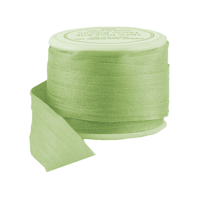Silk Ribbon 13mm Lime (5m spool)