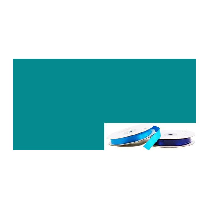 Ruban Satin 13mm Turquoise Foncé (rouleau 20m)