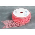 Lace Ribbon Salmon color 20mm (by meter)