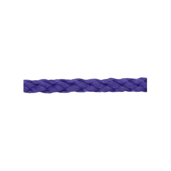 Cordon Anorak - tresse plate 5mm Violet (au mètre)