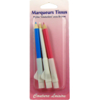 Dressmaker pencils with brush (3 colors)