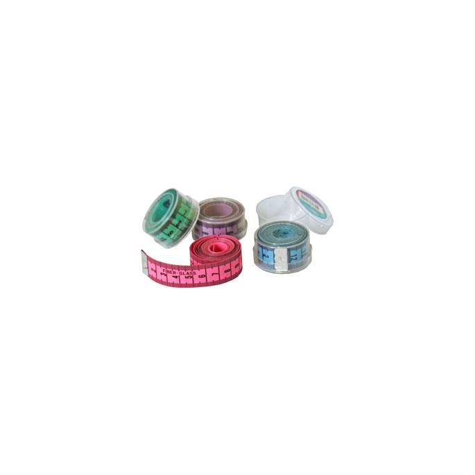 Centimètre couture souple avec boîte rangement - 150cm BLEU