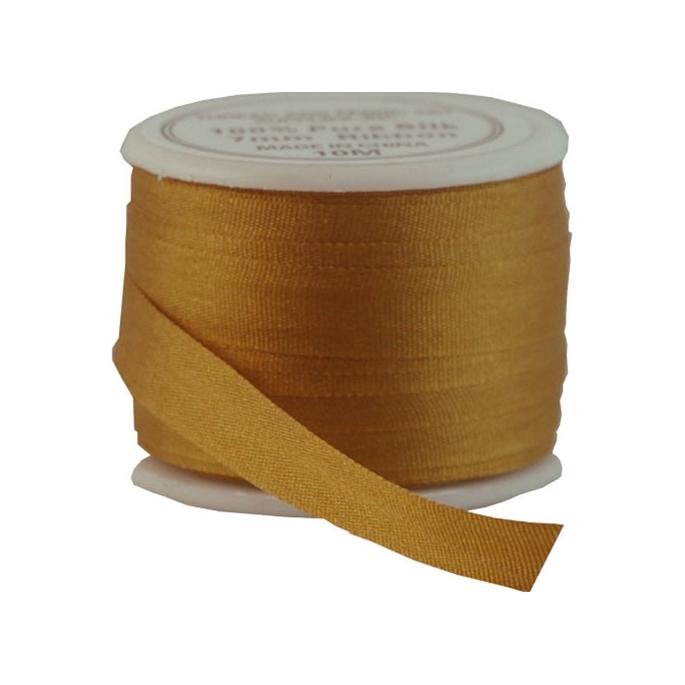 Silk Ribbon 7mm Golden Tan (10m spool)