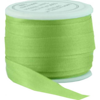 Silk Ribbon 7mm Lime (10m spool)