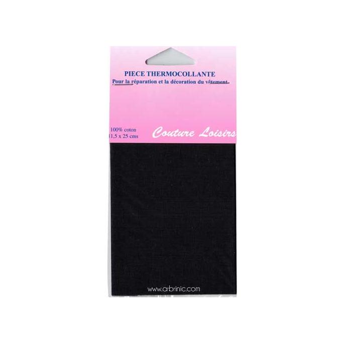 Iron-on mender - Lightweight cotton Black