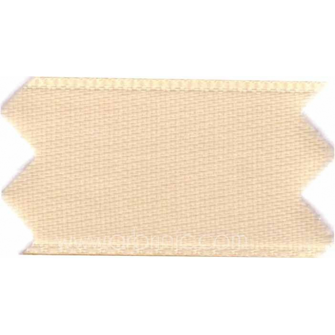 Satin Ribbon double face 25mm Beige (by meter)