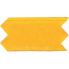 Satin Ribbon double face 11mm Orange Yellow (by meter)