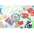 Coton imprimé Paris Patchwork Timeless Treasures par 10cm