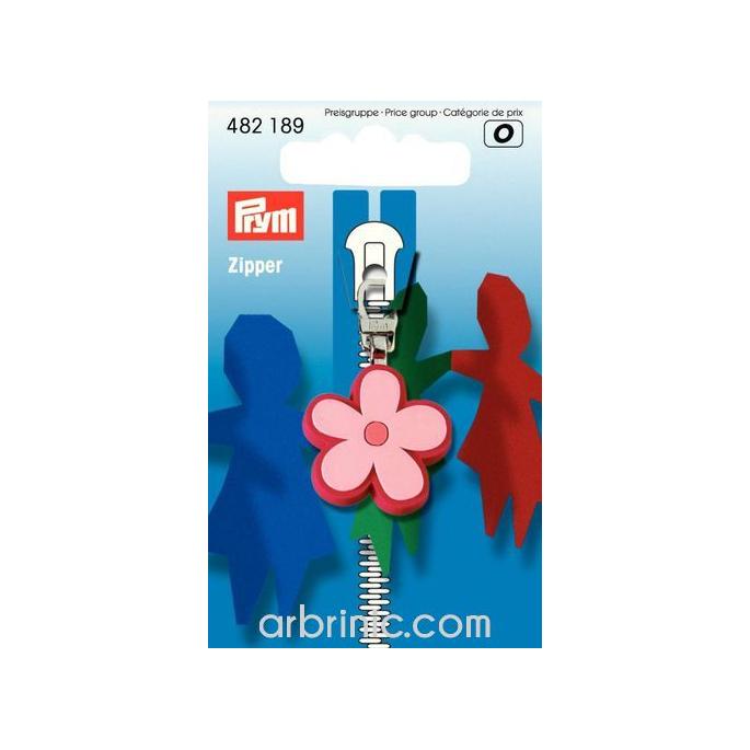 Zip puller Flower PRYM