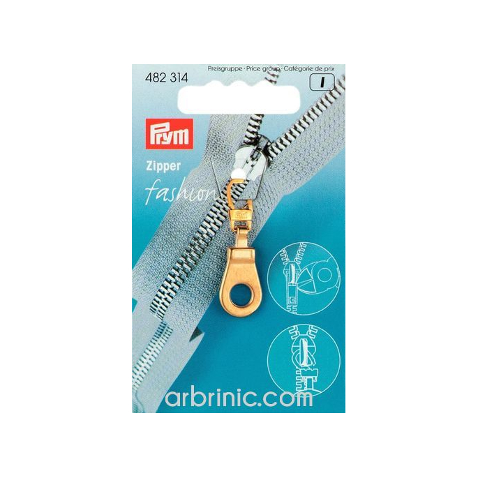 Zip puller Gold Eye PRYM