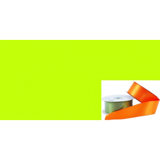 Satin Ribbon 38mm Lime Green (20m roll)