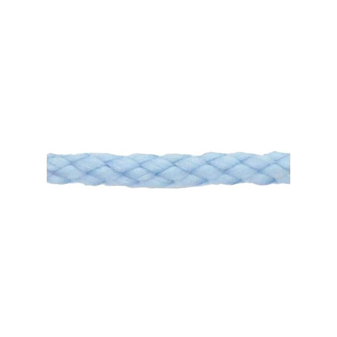Cordon Anorak - tresse plate 5mm Bleu Ciel (au mètre)