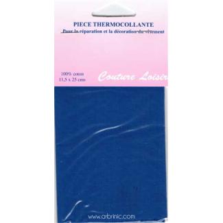 Pièce thermocollante - Percale coton Bleu Roy