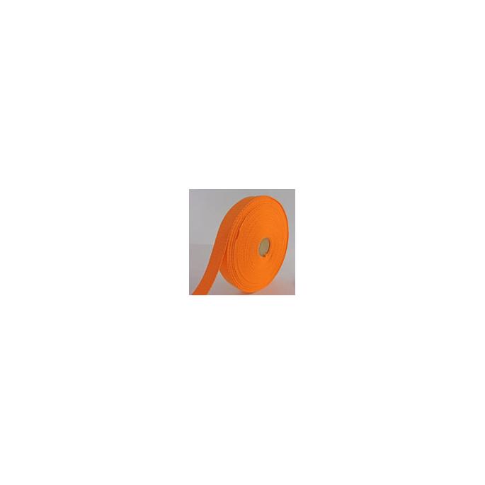 Cotton Webbing 30mm Orange (by meter)