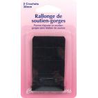 Rallonge Soutien-gorge 38mm 2 crochets - Noir