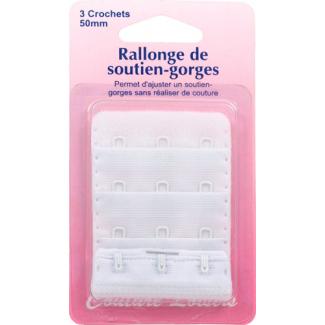 Rallonge Soutien-gorge 50mm 3 crochets - Blanc
