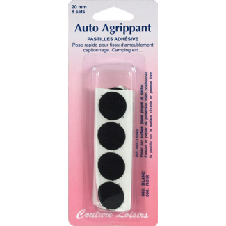 Hook & Loop adhesive Dots - black (8 sets)
