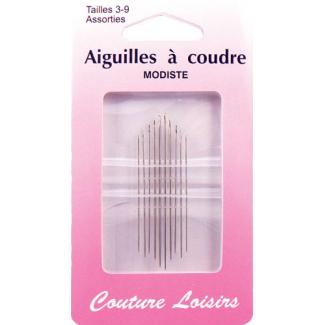 Milliners Needles Size 3-9 (x10)