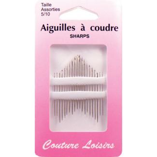 Aiguilles à coudre - Fines et longues Taille 5-10 (x20)